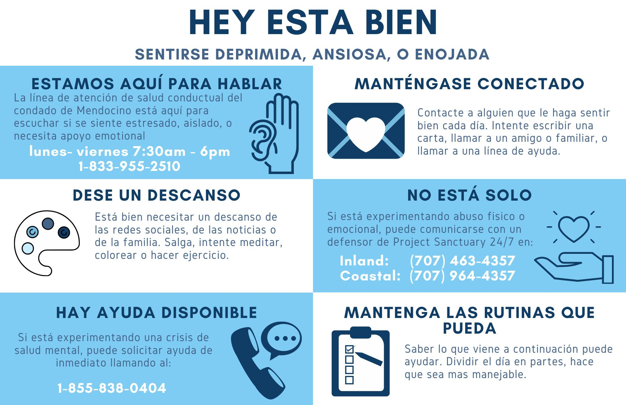 Mendocino Health Announcement - Espanol